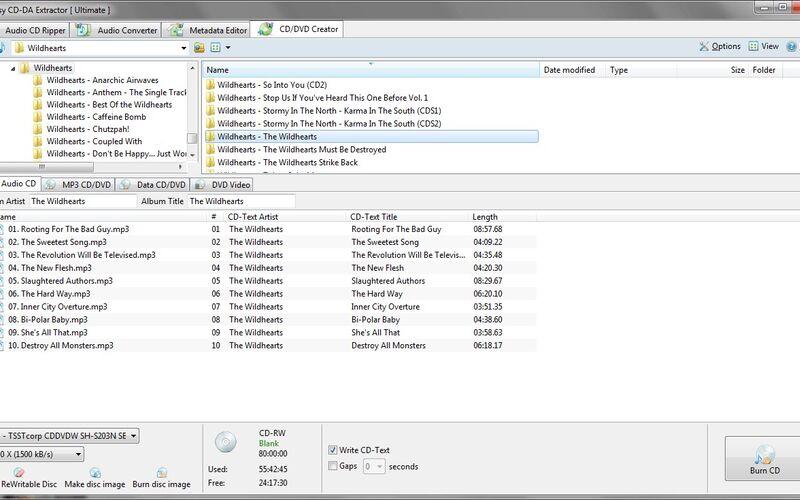 Скриншот 1 программы EZ CD Audio Converter