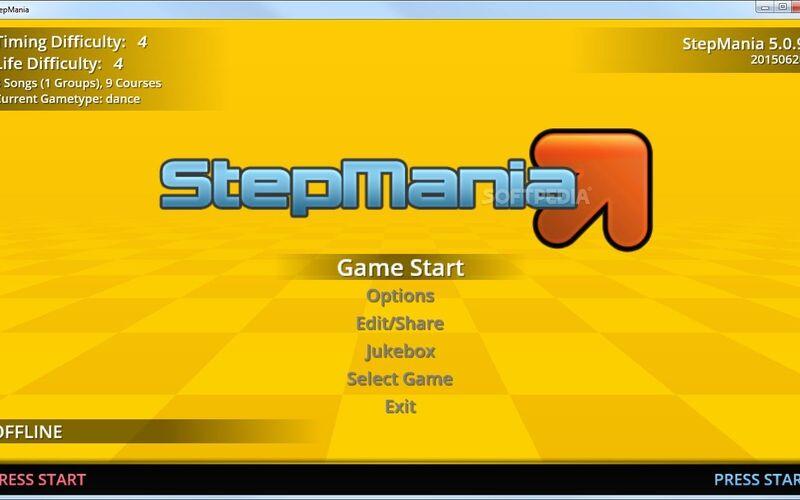 Скриншот 1 программы StepMania