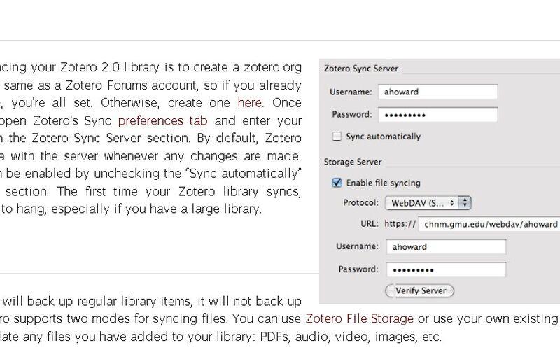 Скриншот 1 программы Zotero
