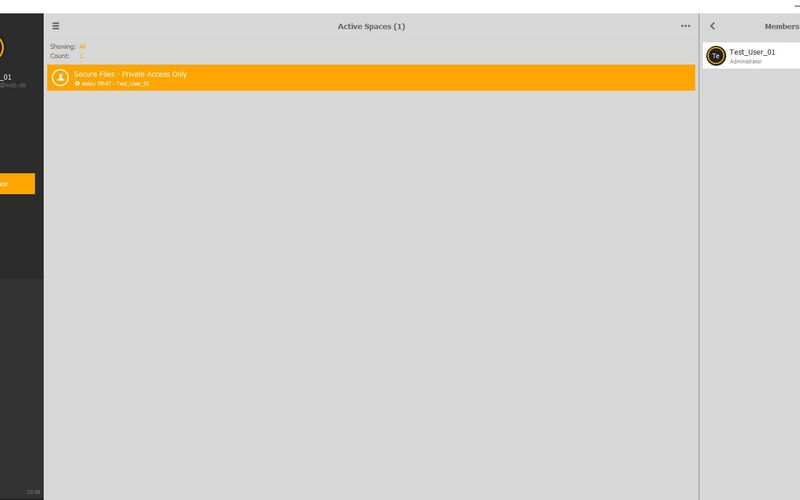 Скриншот 1 программы TeamDrive