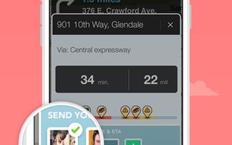 Скриншот 1 программы Waze