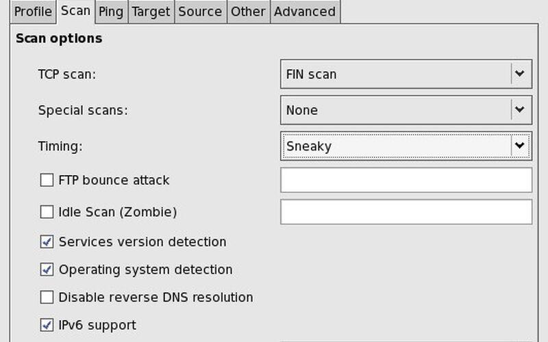 Скриншот 1 программы Nmap