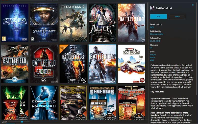 Скриншот 1 программы Playnite