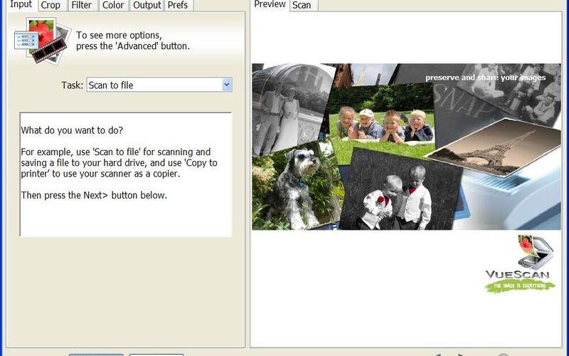 Скриншот 1 программы VueScan