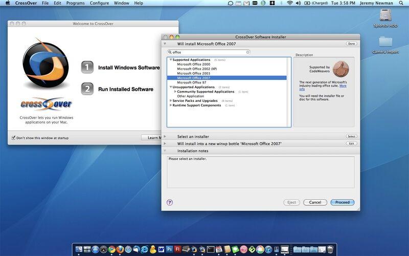 Скриншот 1 программы CrossOver