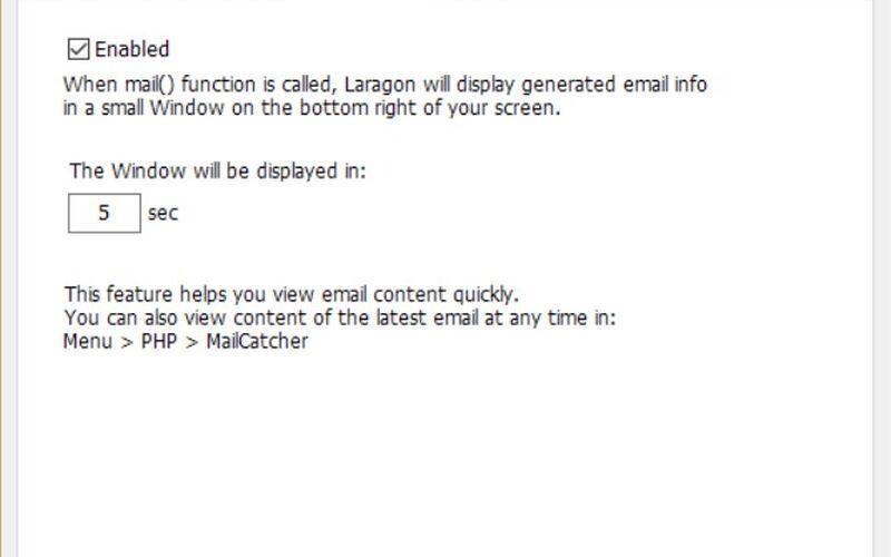 Скриншот 1 программы Laragon