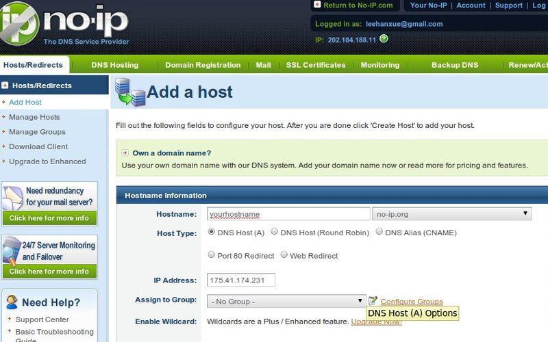 Скриншот 1 программы No-IP