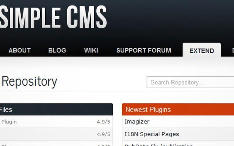 Скриншот 1 программы GetSimple CMS