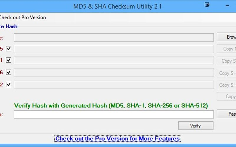 Скриншот 1 программы MD5 & SHA Checksum Utility