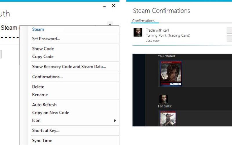 Скриншот 1 программы WinAuth