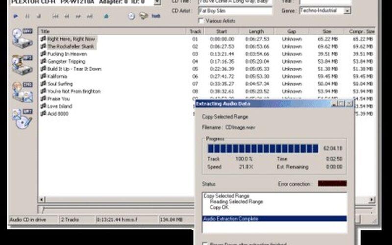 Скриншот 1 программы Exact Audio Copy