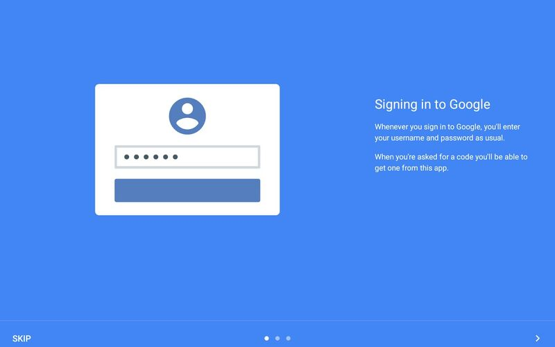 Скриншот 1 программы Google Authenticator