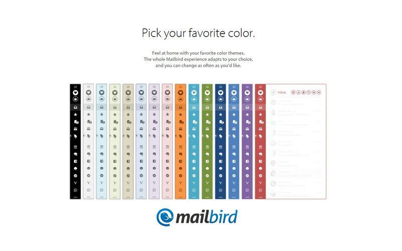 Скриншот 1 программы Mailbird