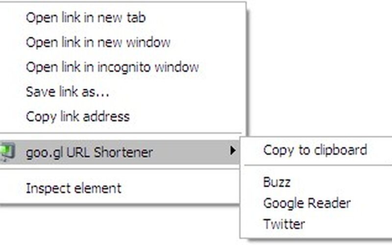 Скриншот 1 программы goo.gl URL Shortener
