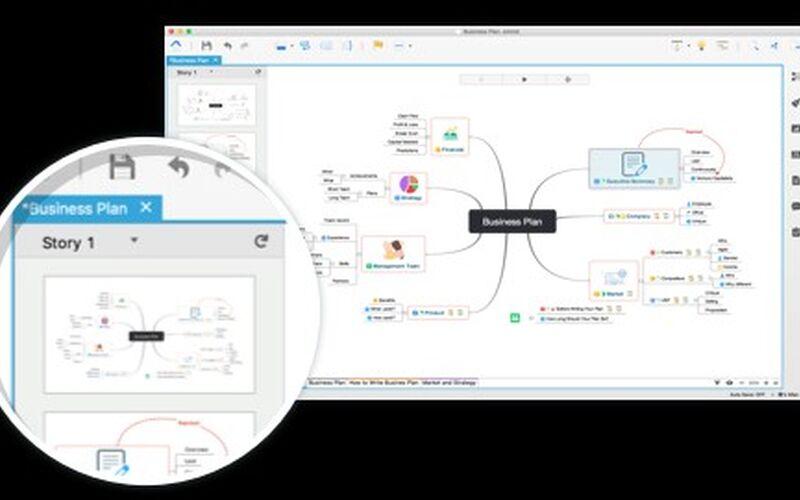 Скриншот 1 программы XMind