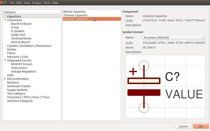 Скриншот 1 программы LibrePCB