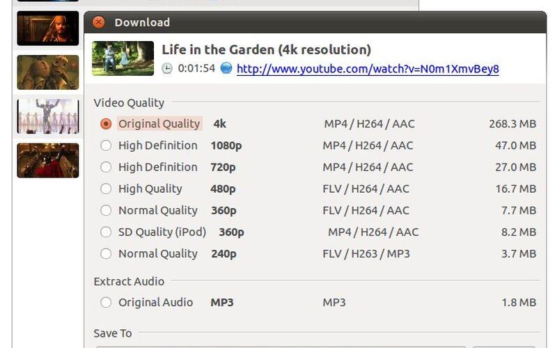 Скриншот 1 программы 4k Video Downloader