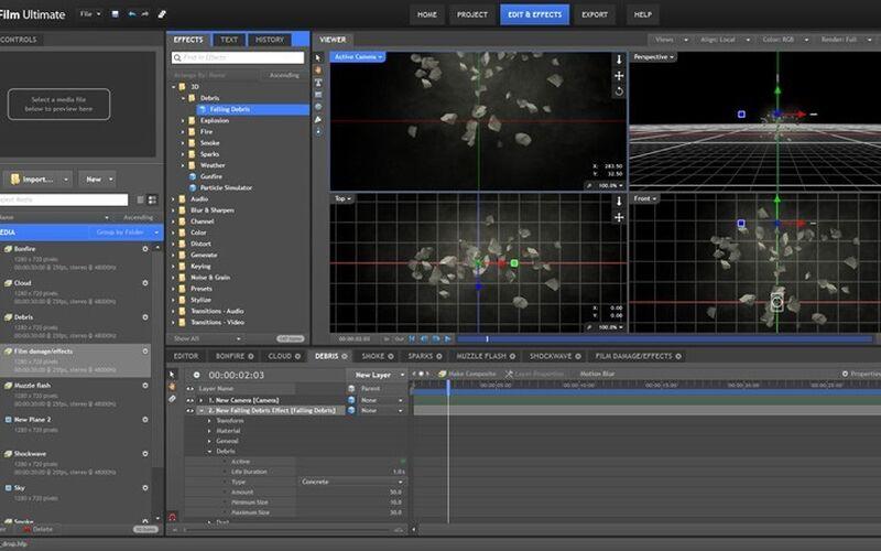 Скриншот 1 программы FXhome HitFilm
