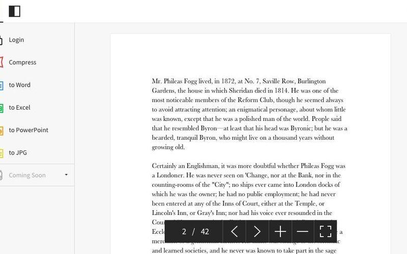 Скриншот 1 программы Smallpdf