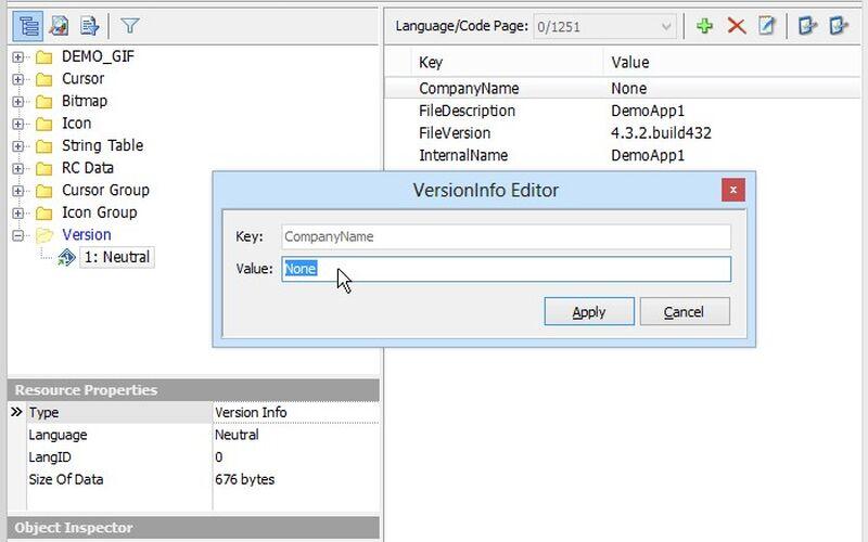 Скриншот 1 программы Resource Tuner