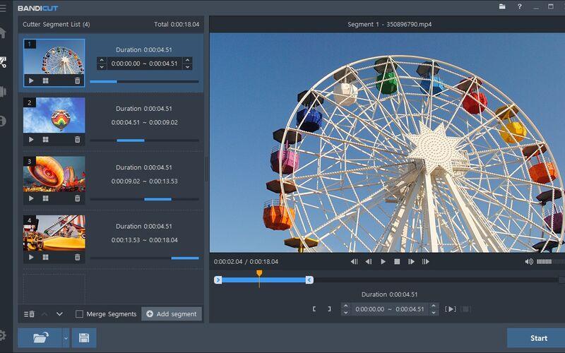 Скриншот 1 программы Bandicut Video Cutter