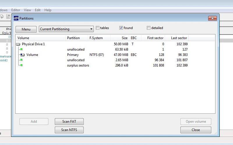 Скриншот 1 программы DMDE