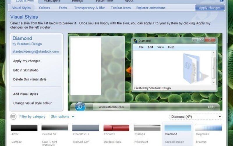 Скриншот 1 программы WindowBlinds