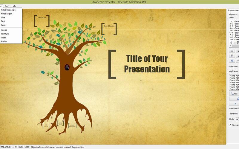 Скриншот 1 программы Academic Presenter