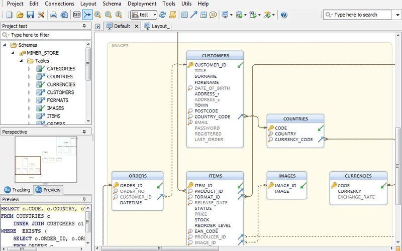Скриншот 1 программы DbSchema
