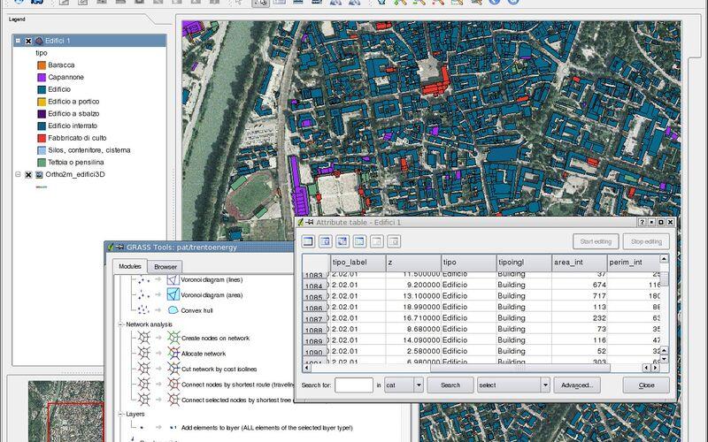 Скриншот 1 программы GRASS GIS