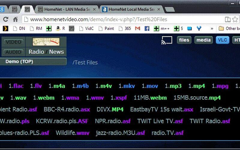 Скриншот 1 программы HomeNet Local Media Server