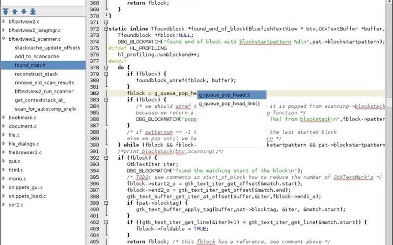 Скриншот 1 программы Bluefish Editor