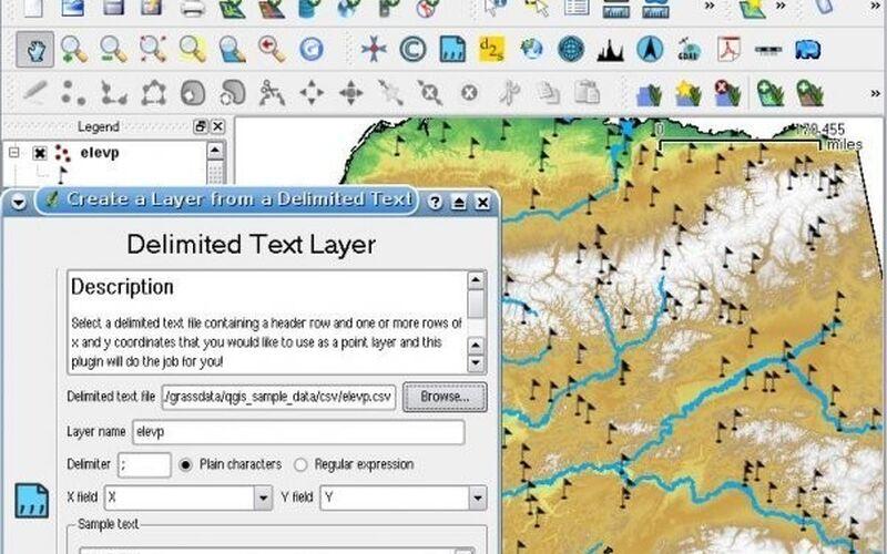 Скриншот 1 программы QGIS