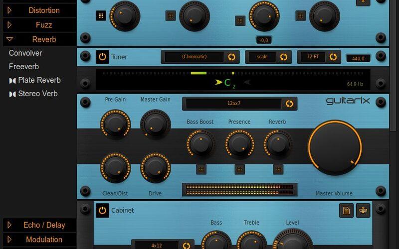 Скриншот 1 программы Guitarix