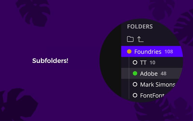 Скриншот 1 программы FontBase