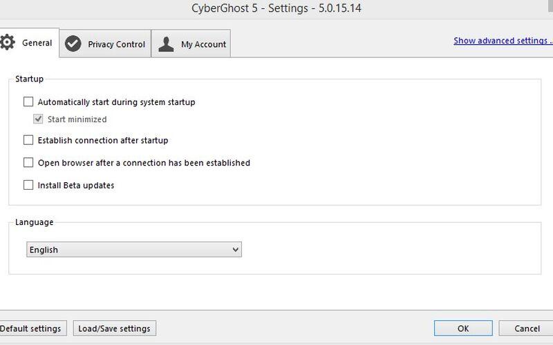 Скриншот 1 программы CyberGhost VPN