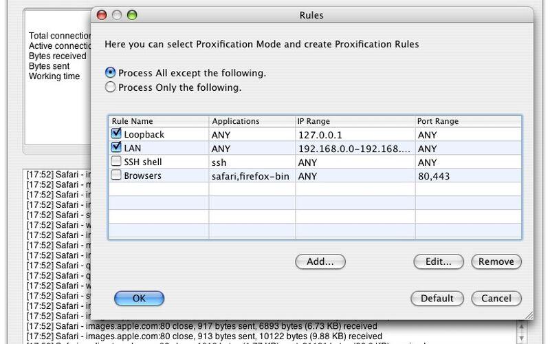 Скриншот 1 программы Proxifier