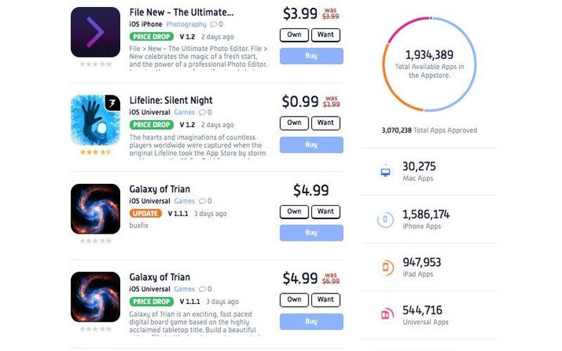 Скриншот 1 программы AppShopper