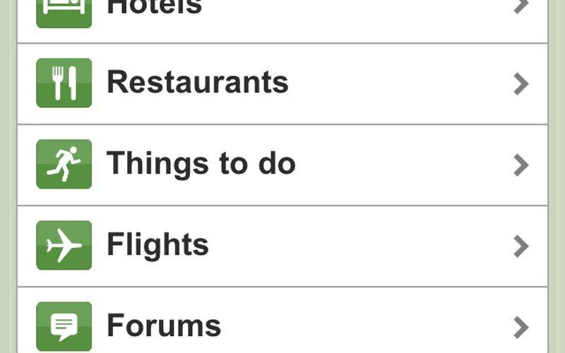 Скриншот 1 программы Tripadvisor