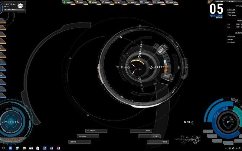 Скриншот 1 программы Rainmeter