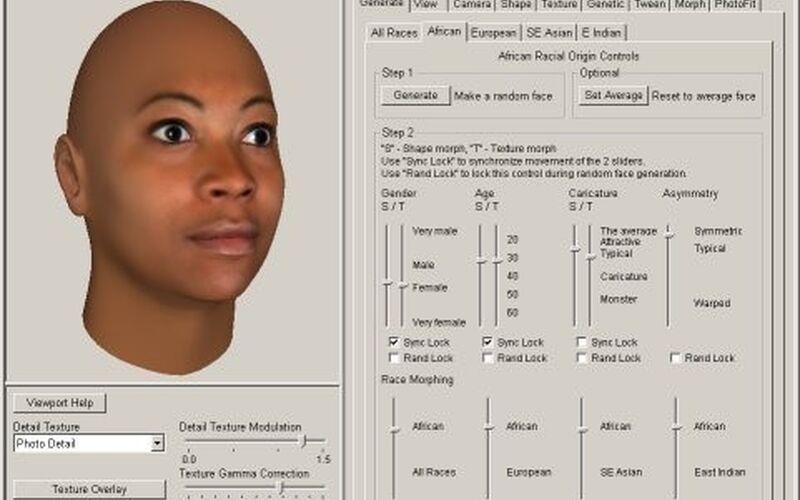 Скриншот 1 программы Face Gen
