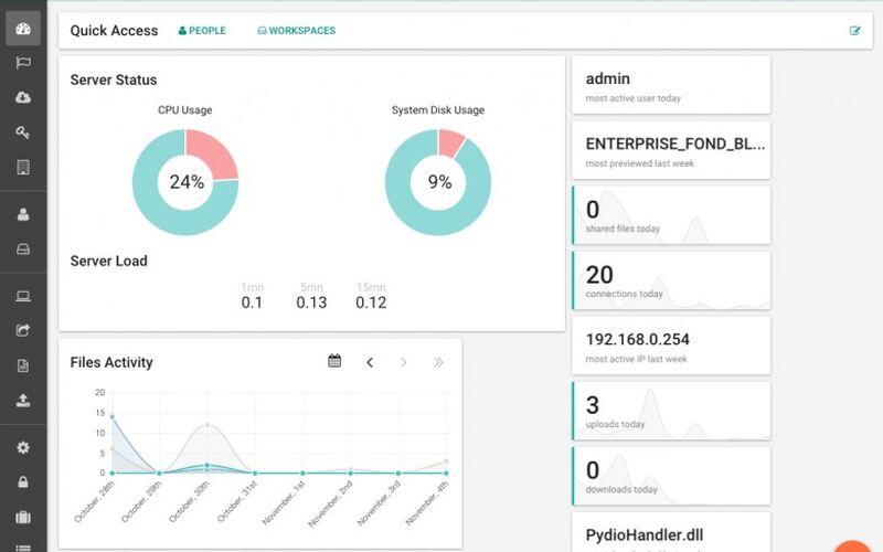 Скриншот 1 программы Pydio