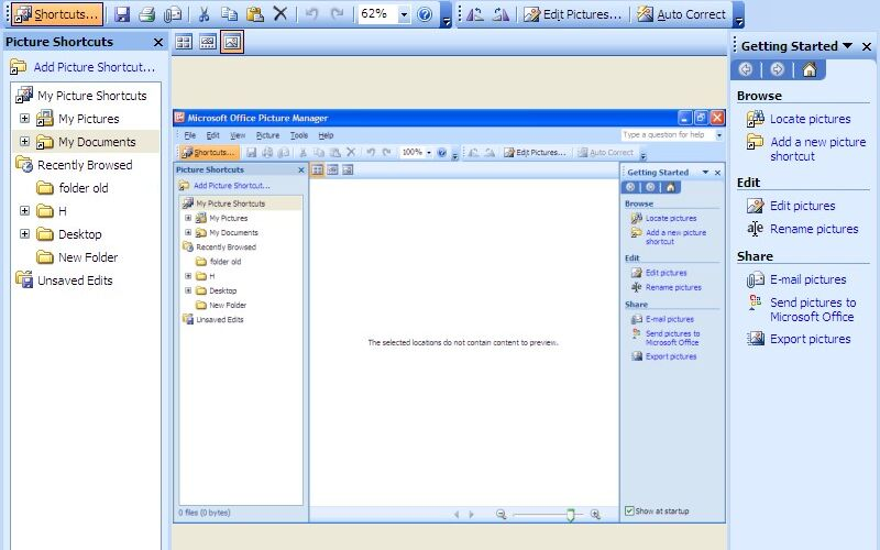 Скриншот 1 программы Microsoft Office Picture Manager
