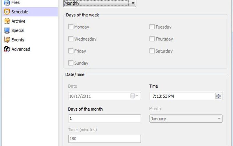 Скриншот 1 программы Cobian Backup
