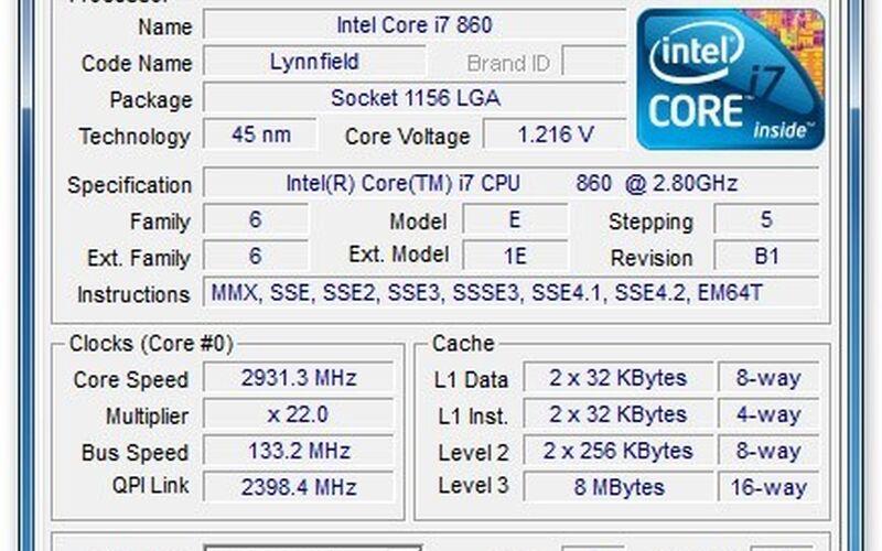Скриншот 1 программы CPU-Z