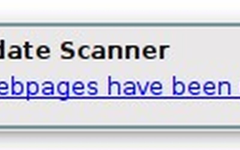 Скриншот 1 программы Update Scanner