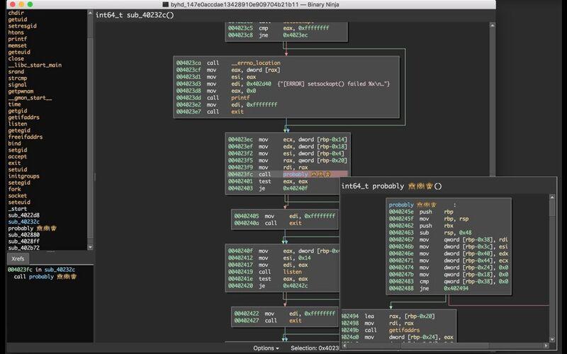 Скриншот 1 программы Binary Ninja