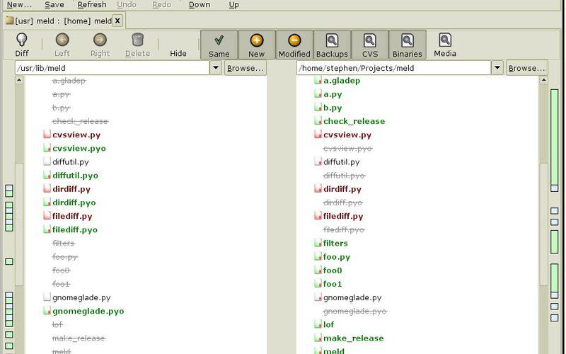 Скриншот 1 программы Meld