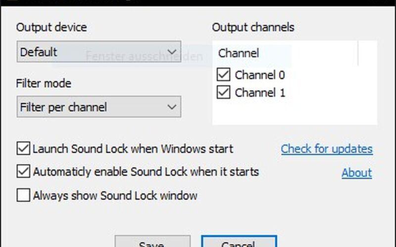 Скриншот 1 программы Sound Lock
