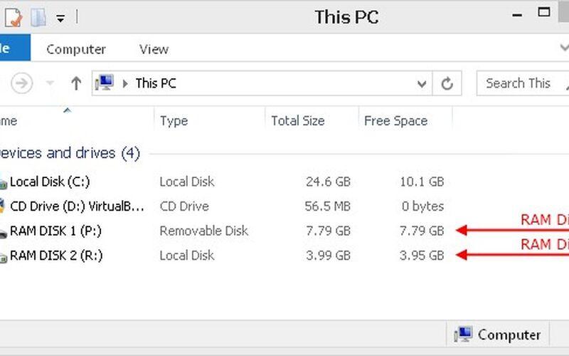Скриншот 1 программы SoftPerfect RAM Disk